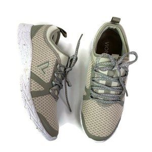 Vionic Alma Athletic Shoe Gray Beige Low Top 8M